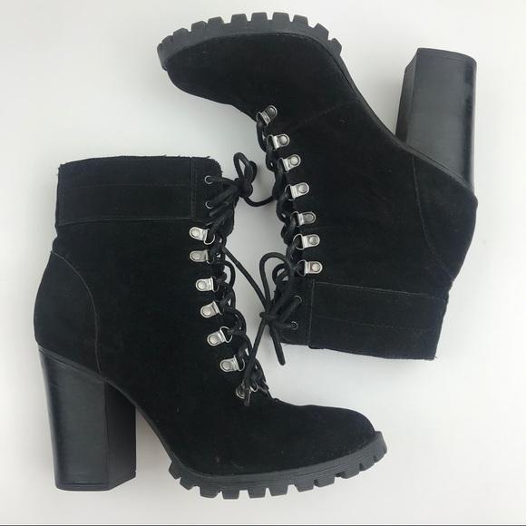 heeled combat boots cheap online